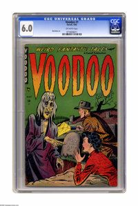 Voodoo #1 (Farrell, 1952) CGC FN 6.0 Off-white pages. Matt Baker art. Overstreet 2005 FN 6.0 value = $171. CGC census 10...