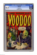 Golden Age (1938-1955):Horror, Voodoo #4 (Farrell, 1952) CGC FN+ 6.5 Off-white pages. Overstreet2005 FN 6.0 value = $120; VF 8.0 value = $230. CGC census ...