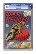 Golden Age (1938-1955):War, War Heroes #4 (Dell, 1943) CGC VF/NM 9.0 Off-white to white pages.This is the only copy of this issue certified by CGC to d... (1 )