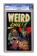 Golden Age (1938-1955):Horror, Weird Chills #1 (Key Publications, 1954) CGC VG 4.0 Cream tooff-white pages. Bernard Baily blood transfusion cover. Basil W...