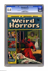 Weird Horrors #1 (St. John, 1952) CGC VG/FN 5.0 Cream to off-white pages. George Tuska art. Overstreet 2005 VG 4.0 value...