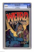 Golden Age (1938-1955):Horror, Weird Mysteries #1 (Gillmor, 1952) CGC VG/FN 5.0 Cream to off-whitepages. Hy Fleishman art. Overstreet 2005 VG 4.0 value = ...