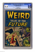 Golden Age (1938-1955):Horror, Weird Tales of the Future #1 (Aragon, 1952) CGC FN- 5.5 Cream tooff-white pages. Ross Andru art. Overstreet gives partial c...