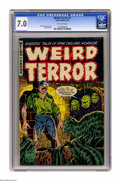 "Golden Age (1938-1955):Horror, Weird Terror #1 (Comic Media, 1952) CGC FN/VF 7.0 Off-white pages.""Portal of Death"" adapted from H. P. Lovecraft's ""Pickman..."