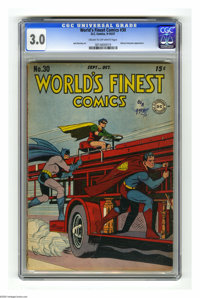 World's Finest Comics #30 (DC, 1947) CGC GD/VG 3.0 Cream to off-white pages. Johnny Everyman appearance. Jack Burnley co...