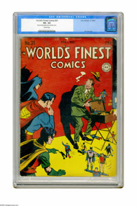 World's Finest Comics #31 (DC, 1947) CGC VG- 3.5 Cream pages. Jack Burnley cover. Interior art by Bob Kane, Curt Swan, H...