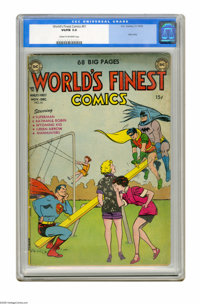 World's Finest Comics #61 (DC, 1956) CGC VG/FN 5.0 Cream to off-white pages. Joker story. This is the only copy of this...