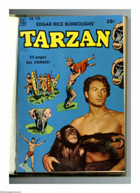 Tarzan #13-24 Bound Volume (Dell, 1950-51). These are Western Publishing file copies that have been trimmed and bound in...