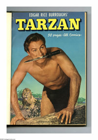 Tarzan #25-36 Bound Volume (Dell, 1951-52). These are Western Publishing file copies that have been trimmed and bound in...