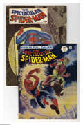 Silver Age (1956-1969):Superhero, Spectacular Spider-Man #1 and 2 Group (Marvel, 1968) Condition: Average VG/FN. Included are #1 (Black and white with updated... (2 Comic Books)