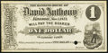 Obsoletes By State:Minnesota, Kasson, MN- Banking House of David Anthony $1 Nov. 1, 1871 HewittUNL. ...