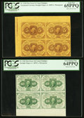 Fractional Currency:First Issue, First Issue Uncut Multiples PCGS Graded.. ... (Total: 4 items)