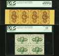 Fractional Currency:First Issue, First Issue Multiples PCGS Graded.. ... (Total: 4 items)