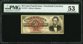 Fractional Currency:Fourth Issue, Fr. 1374 50¢ Fourth Issue Lincoln PMG About Uncirculated 53.. ...
