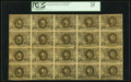 Fractional Currency:Second Issue, Fr. 1244 10¢ Second Issue Full Sheet of Twenty PCGS Very Fine 25.. ...