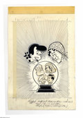 Original Comic Art:Covers, Little Dot's Uncles and Aunts #31 Cover Original Art (Harvey,1969). Dot and a fortune teller gaze into the crystal ball. Th...