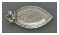 Other:American, A STERLING ART NOUVEAU DISH. Gorham, Providence, RI, c.1900. Thesterling Gorham dish with an iris repousse handle, dish w...