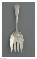 Other:American, AN AMERICAN STERLING SERVING FORK. Gorham, Providence, RI, 1865 toPresent. The sterling repousse serving fork, engraved t...
