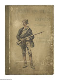 Illustration:Books, DONE IN THE OPEN. Book with illustrations by Frederic Remington,1901. Published by P.F. Collier & Son New York Publishing C...