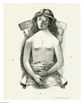 Prints:American, FLETCHER MARTIN (American 1904 - 1979). Girl in Chair. Lithograph.14.5 x 11.5in....