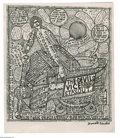 Paintings, HOWARD FINSTER (American 1916-2001). The Devil's Vice. Lithograph. 20.75 x 17.5in. Signed lower right...