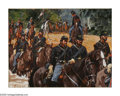 American:Western, DON STIVERS (American b.1926). Union Troops, 1986. Dye-sub print.6.25 x 8.25in.. Signed lower left...