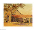 Texas:Early Texas Art - Impressionists, PEDRO LEZCANO (American). Landscape, Tree and Barn. Oil on canvas.16 x 20in.. Signed lower left...