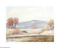 Texas:Early Texas Art - Impressionists, PEDRO LEZCANO (American). Autumn Desert, 1968. Oil on canvas. 12 x16in.. Signed lower left. Signed and dated verso...