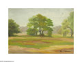 Texas:Early Texas Art - Impressionists, MAX EACHOFEN (American). Quiet Trees. Oil on canvas. Signed lowerleft. Signed verso to canvas...