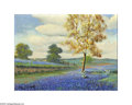 Texas:Early Texas Art - Impressionists, THOMAS LOUIS (American). Bluebonnets. Oil on canvas. 12 x 16in..Signed lower left...