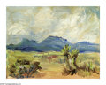 Texas:Early Texas Art - Impressionists, LOIS DENTON (American). Desert Landscape. Oil on canvas board. 8 x10in.. Signed lower left...