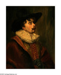 Fine Art - Painting, American:Other , AMERICAN PAINTING (Twentieth Century). In the style of DutchPortraiture. Oil on board. Unsigned...