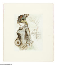 BOARDMAN ROBINSON (American 1876-1952) Daisy Fraser, 1946 Watercolor and gouache on paper 23 x 19.5in. Inscribed: Daisy...