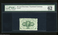 Fractional Currency:First Issue, Fr. 1241 10c First Issue PMG Uncirculated 62. Two jumbo margins and a tightly trimmed top margin are found on this scarce No...