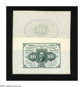 Fractional Currency:First Issue, Fr. 1243SP Wide Margin Face Specimen 10c First Issue New. Fr. 1243SP Wide Margin Back Specimen 10c First Issue Choice Abou... (Total: 2 notes)