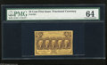 Fractional Currency:First Issue, Fr. 1281 25c First Issue PMG Very Choice Uncirculated 64. This is a bright and colorful example of this straight edge type w...