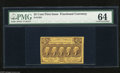 Fractional Currency:First Issue, Fr. 1281 25c First Issue PMG Very Choice Uncirculated 64. A very bright and attractive note with rich yellow and brown inks ...