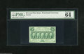 Fractional Currency:First Issue, Fr. 1312 50c First Issue PMG Choice Uncirculated 64. A near gem example of this straight edge type that PMG proclaims has be...