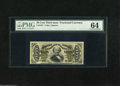 Fractional Currency:Third Issue, Fr. 1331 50c Third Issue Spinner PMG Very Choice Uncirculated 64. A lovely green back Spinner with three huge margins but th...