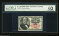 Fractional Currency:Fifth Issue, Fr. 1308 25c Fifth Issue PMG Choice Uncirculated 63. A fresh andbright Walker note with a couple of smaller margins which p...