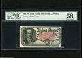 Fractional Currency:Fifth Issue, Fr. 1381 50c Fifth Issue PMG Choice About Uncirculated 58. A lovely Crawford note which has a broad diagonal corner fold pre...