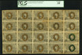 Fractional Currency:Second Issue, Fr. 1244 10¢ Second Issue Full Sheet of Twenty PCGS Very Fine 30.. ...