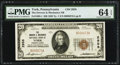 National Bank Notes:Pennsylvania, York, PA - $20 1929 Ty. 1 The Drovers & Mechanics NB Ch. #2958. ...