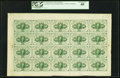 Fractional Currency:First Issue, Fr. 1242 10¢ First Issue Full Sheet of Twenty PCGS Extremely Fine40.. ...