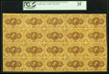 Fractional Currency:First Issue, Fr. 1230 5¢ First Issue Full Sheet of Twenty PCGS Very Fine 35.....