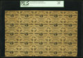 Fractional Currency:Third Issue, Fr. 1226 3¢ Third Issue Uncut Sheet of Twenty-Five PCGS Very Fine 25.. ...