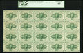 Fractional Currency:First Issue, Fr. 1242 10¢ First Issue Full Sheet of Twenty PCGS Extremely Fine 40.. ...