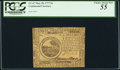 Colonial Notes:Continental Congress Issues, Continental Currency May 20, 1777 $6 PCGS Apparent Choice About New55.. ...