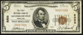 National Bank Notes:Maryland, Kitzmillerville, MD - $5 1929 Ty. 1 The First NB Ch. # 8302. ...