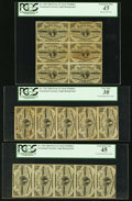 "Fractional Currency:Third Issue, Fr. 1226 3¢ Third Issue ""No Pearls"" Multiples PCGS Graded.. ... (Total: 3 items)"